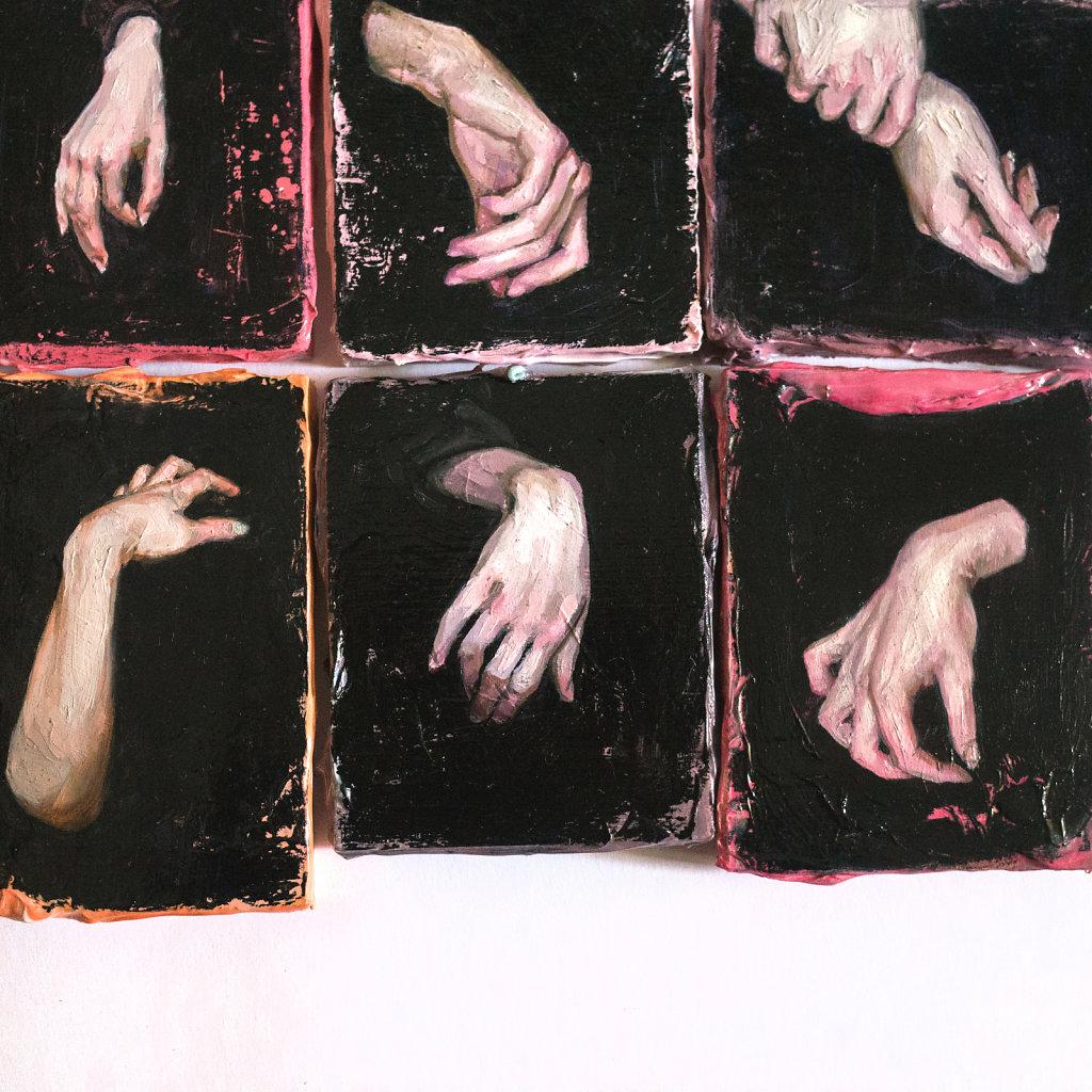 hands - 2017 - ~7x9cm each